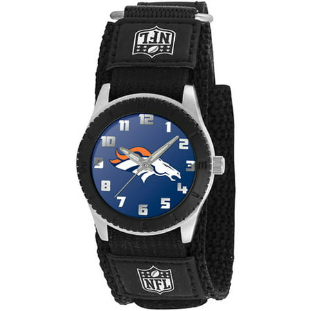 Image of Game Time NFL Kids' Denver Broncos Rookie Series Watch, Black Velcro Strap
