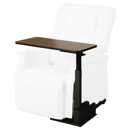 Healthline Bedside Table, Medical Adjustable Overbed Bedside Tilt Table, Hospital and Home Use, Right Side