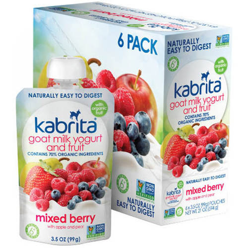 Kabrita Goat Milk Yogurt and Fruit, Mixed Berry, 3.5 oz (Pack of 6) by Kabrita