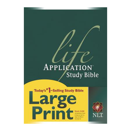 - NLT Life Application Study Bible, Second Edition, Large Print (Red Letter, Hardcover)