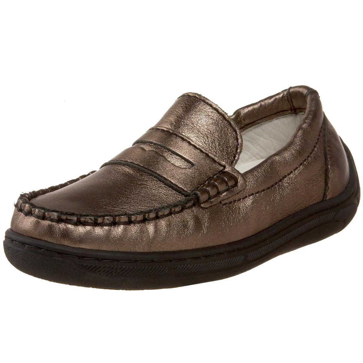 Primigi Unisex Kid's Choate-E Fango Metallic Leather Loafers by Primigi