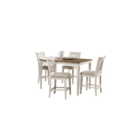 Bayberry 5 Piece Counter Height Dining Set with Non-Swivel Counter Height Stools Bayberry 5 Piece Cherry