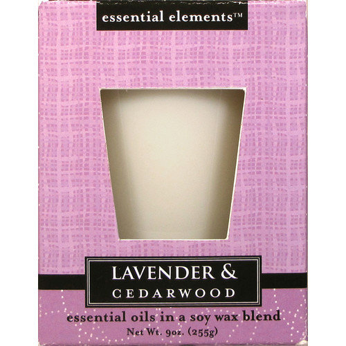 Candle Lite 1540353 Scented Candle,  Lavender & Cedar Wood, 9-oz. Jar