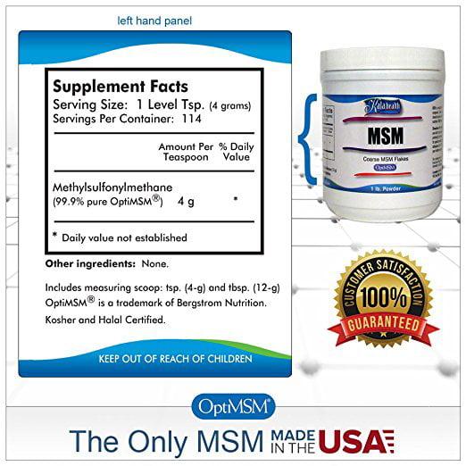 Kala Health MSM Powder Coarse Flakes 1 LB