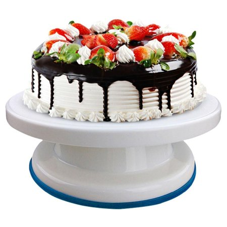 27cm Cake Turntable Rotating Cake Decorating Turntable Anti-skid Round Cake Stand Cake Rotary Table - Cake Table