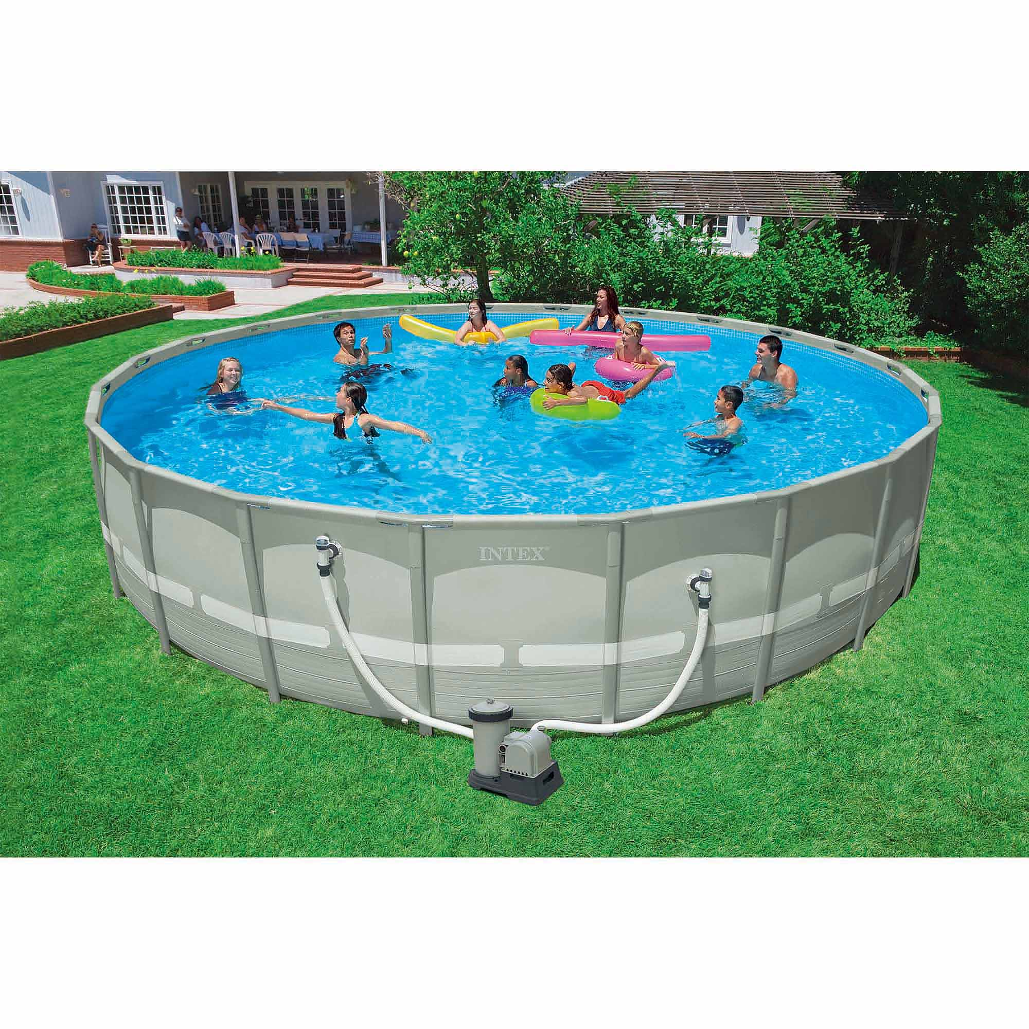 Image gallery intex pools at walmart for On ground pools