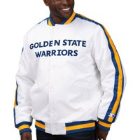 Golden State Warriors Starter The Defensive Varsity Satin Jacket - White