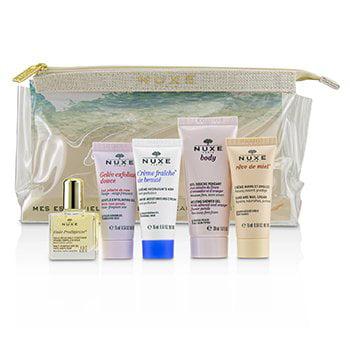 My Beauty Essentials Set: Gentle Exfoliating Gel+48HR Moisturising Cream+Multi Usage Dry Oil+Hand & Nail Cream+Shower Gel 5pcs