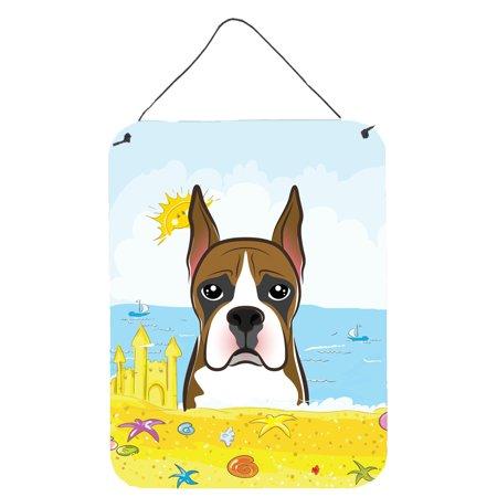Boxer Summer Beach Wall or Door Hanging Prints