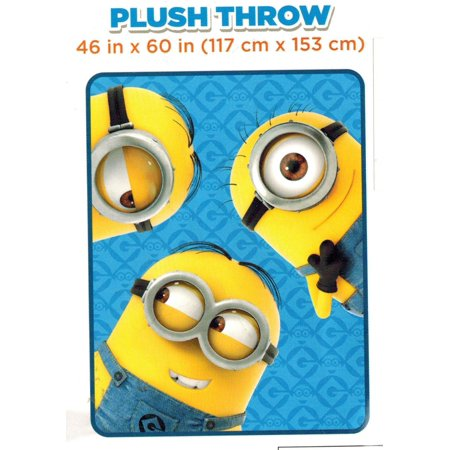 Three Minions Plush Throw 46