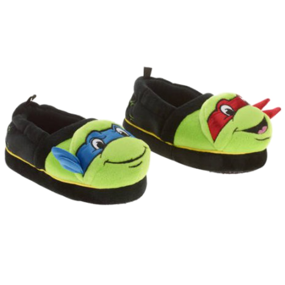TMNT Toddler Boys Black & Green Teenage Mutant Ninja Turtles Slippers Shoes