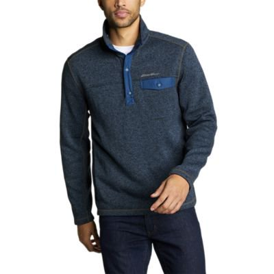 Eddie Bauer Men's Radiator Fleece Snap Mock Neck