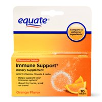 Equate Immune Support Dietary Supplement, Orange, 10 Ct