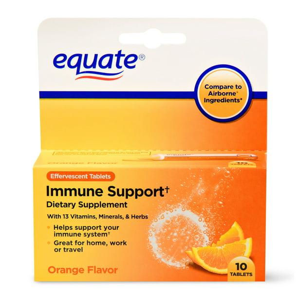 Equate Immune Support Dietary Supplement, Orange, 10 Ct