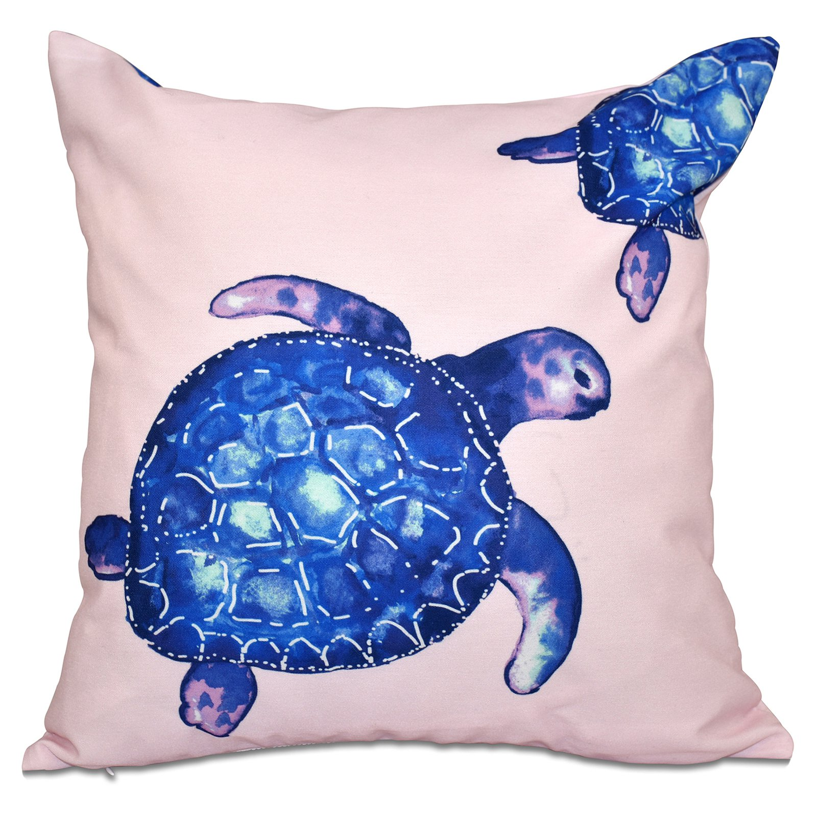 E by Design Beach Vacation Turtle Tales Decorative Pillow