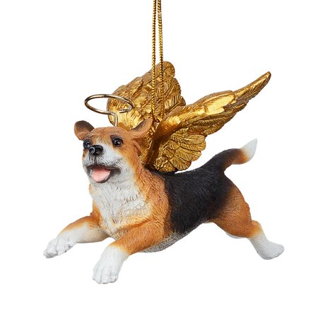 Design Toscano Honor the Pooch: Beagle Holiday Dog Angel -