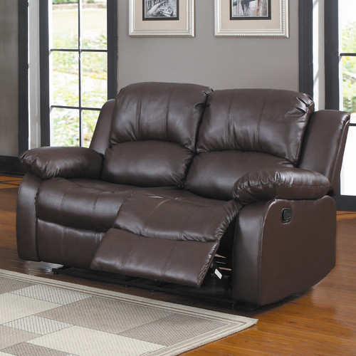 Trent Home Cranley Double Reclining Leather Love Seat in Black - Walmart.com & Trent Home Cranley Double Reclining Leather Love Seat in Black ... islam-shia.org
