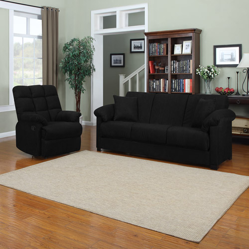 Montero Convert-A-Couch Sofa Bed with Recliner, Multiple Colors