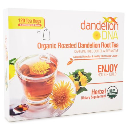 Mint Roasted Tea (Roasted Dandelion Tea 120 bags - USDA Organic)