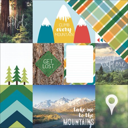Discover Usa Double Sided Cardstock 12 X12  Mountain Tags   Case Pack Of 15