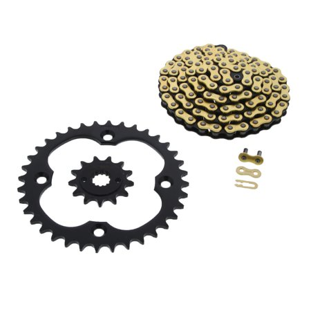 - 06-08 Suzuki LTR450 450 QuadRacer CZ Gold MX Chain & Silver Sprocket 13/36 104L