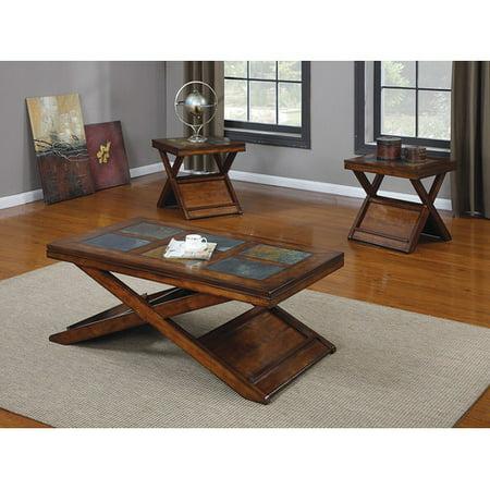acme furniture benicia 3 piece coffee table set