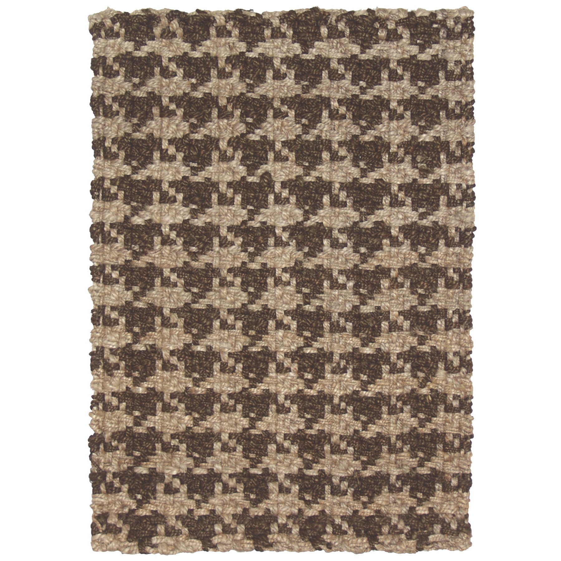 Kosas Home  Maricel Houndstooth Brown Jute 4x6 Rug