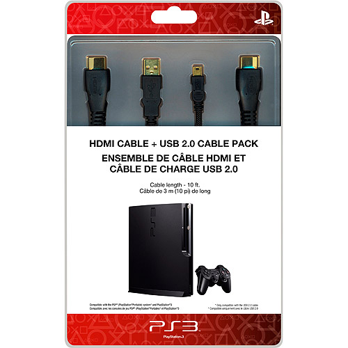 SONY PlayStation HDMI Cable & USB 2.0 Cable Pack