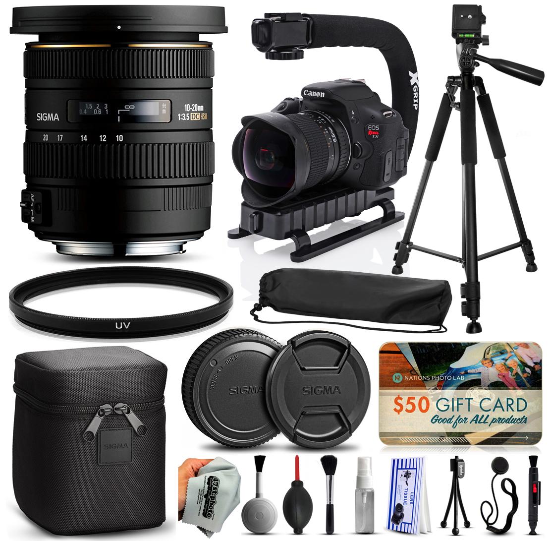 Sigma 10-20mm F3.5 EX DC HSM Lens for Nikon (202306) + 60...