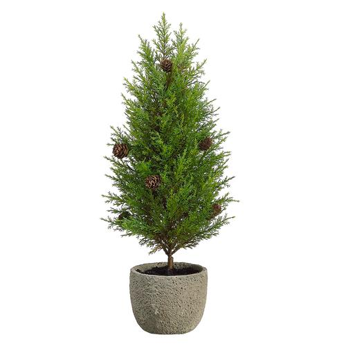 """19"""" Potted Artificial Pine Tree with Pine Cones - Unlit"""