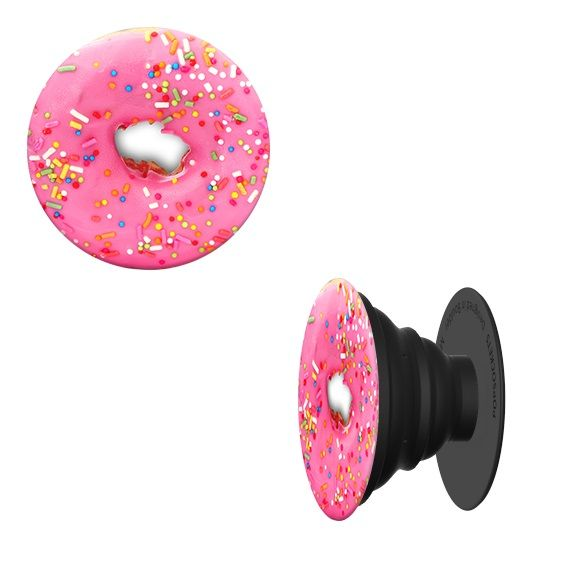Popsocket Phone Grip & Stand   Pink Donut   Accessory By Pop Sockets (101257) by Pop Sockets