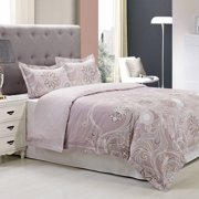 Superior Vineyard Reversible 300 Thread Count Cotton Reactive Print Duvet Cover Set
