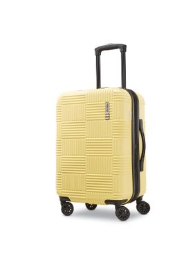 """American Tourister 22"""" Checkered Carry On Hardside Spinner Suitcase - Yellow"""