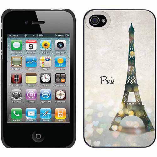Paris Cityscape Design on Apple iPhone 4/4s Thinshield Snap-On Case by Coveroo