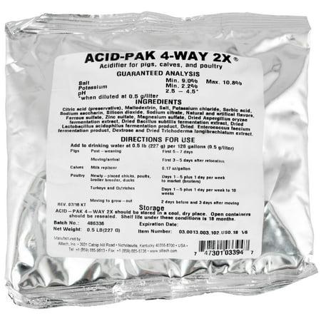 Acid-Pak 4-Way 2X, 8 oz (Best Way To Take D Aspartic Acid)