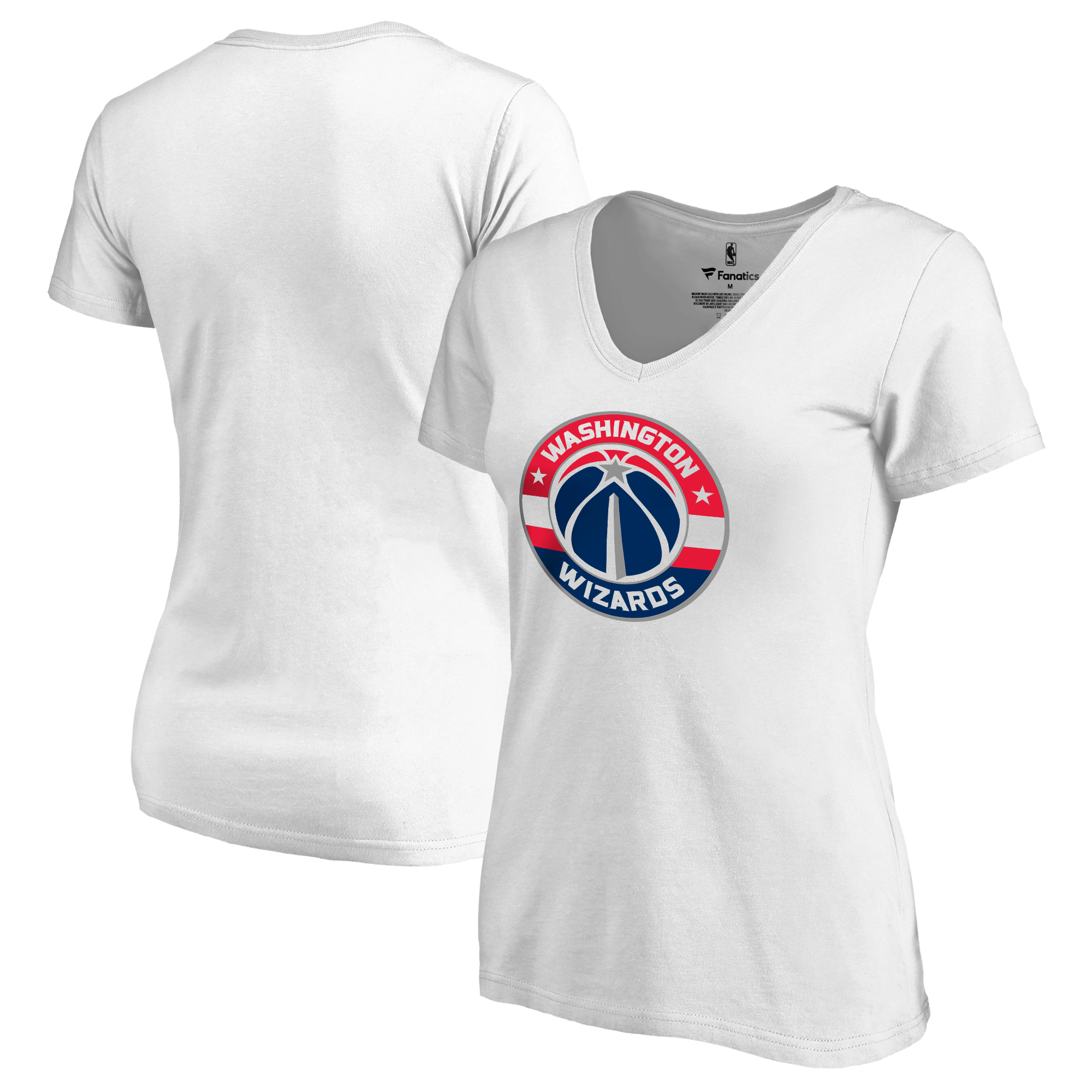 Washington Wizards Fanatics Branded Women's Plus Sizes Team Primary Logo T-Shirt - White