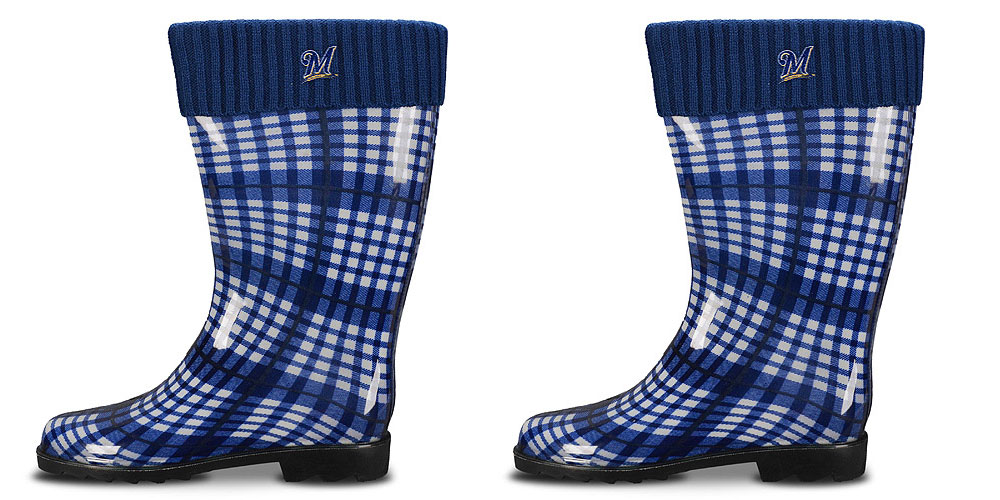 Milwaukee Brewers Women's Rain Boots by For Bare Feet