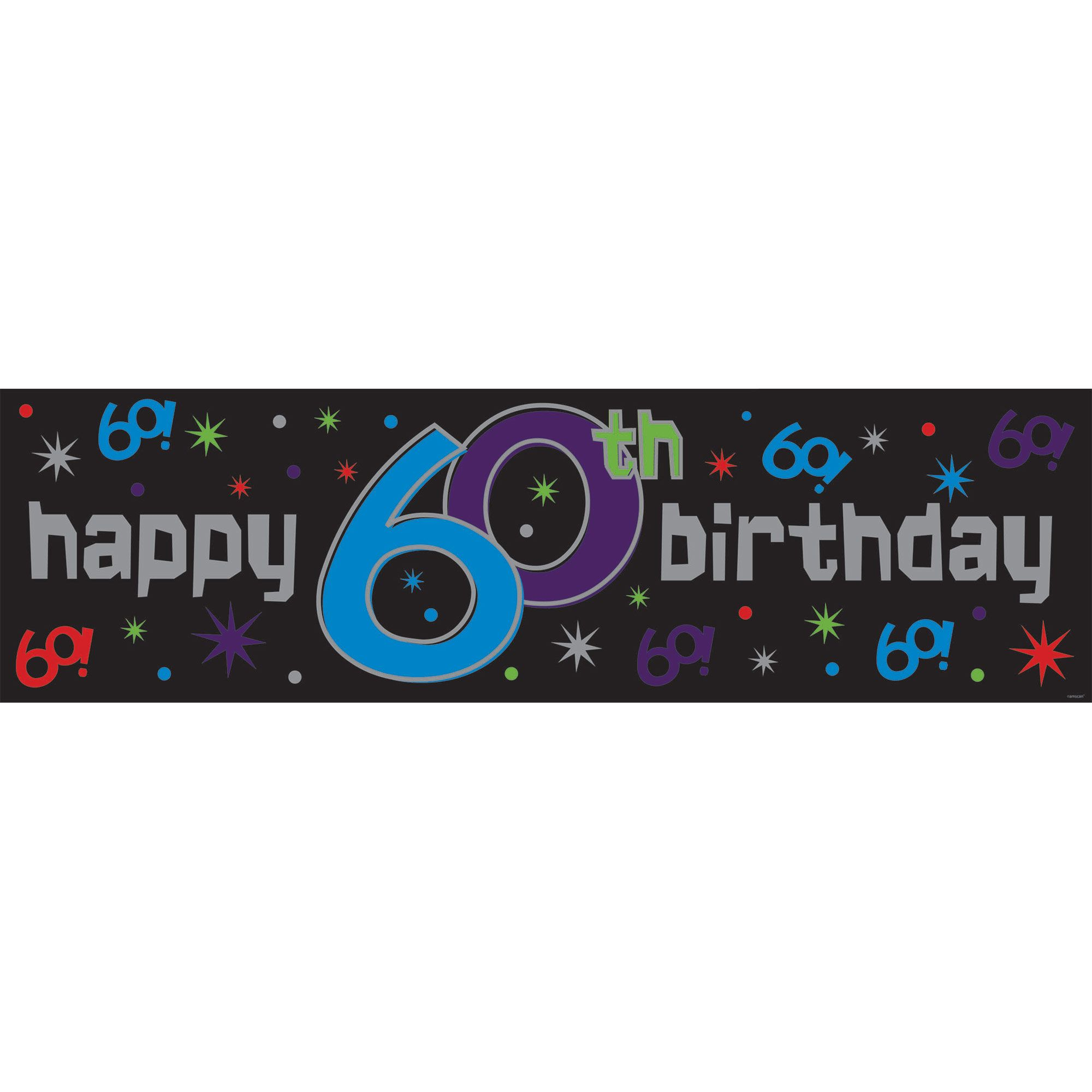 The Party Continues 60th Birthday Giant Banner - Party Supplies