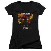 Amityville Horror Get Out Juniors V-Neck Shirt