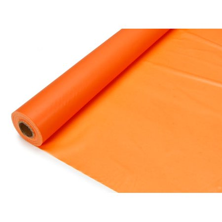 Darice Orange Plastic Table Cover Roll, 40