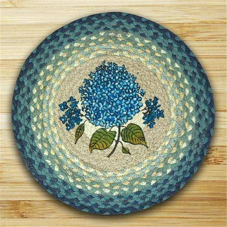 Round Chair Pad, Blue Hydrangea ()