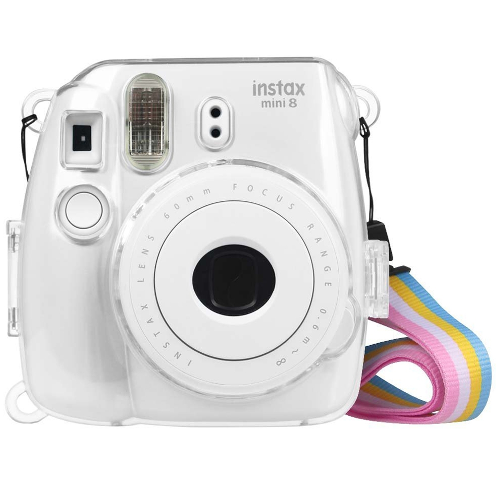 Fintie Fujifilm Instax Mini 9 Mini 8 Mini 8+ Camera Clear Case - Crystal Hard PVC Protective Case Cover