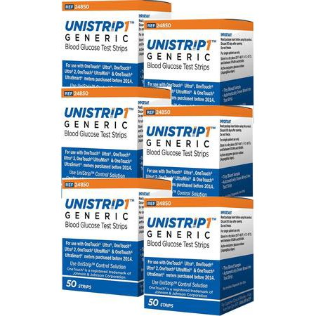 UniStrip Glucose Test Strips  300 CT - For use with OneTouch Ultra