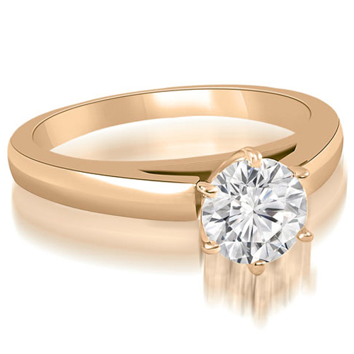 """""""1.00 cttw. 14K Rose Gold Cathedral Solitaire Round Cut Diamond Engagement Ring (I1, H-I)"""""""