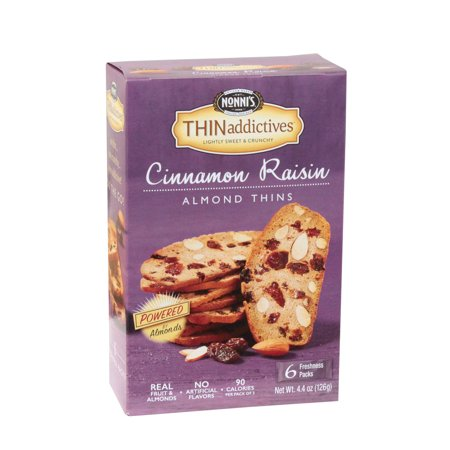 (Thin Addictives Nonni's Almond Cinnamon Raisin Cookies Case 6count (PACK OF 6))