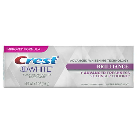 Crest 3D White Brilliance Advanced Whitening Technology Toothpaste, Mesmerizing Mint, 4.1 oz
