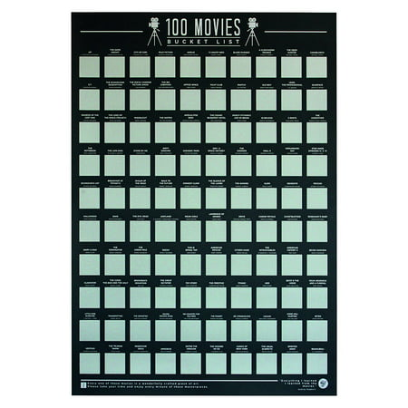 Scratch-Off Bucket List Posters - Top 100 Albums, Books, Movies, or Places - 23
