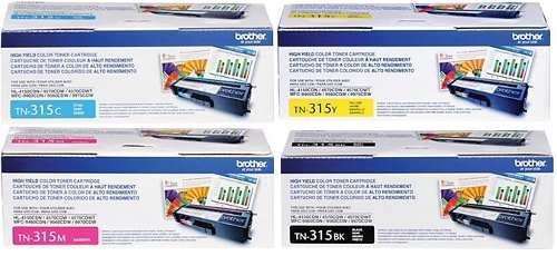 Brother TN315 4-Color High Yield Toner Cartridge Set by Brother