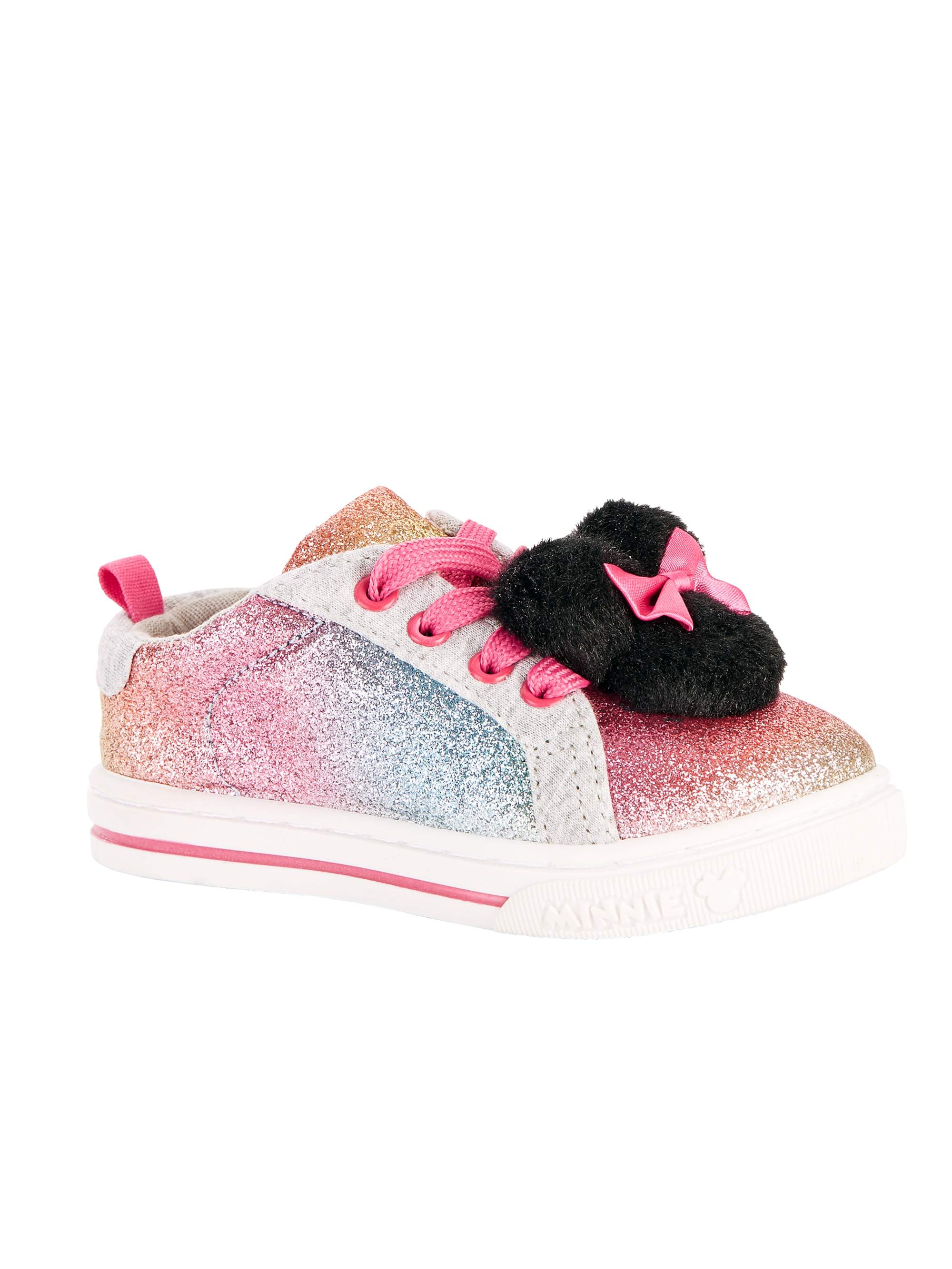 size Toddler Girls/' Minnie Mouse Light-Up Sneaker Shoes 6 7 8 9 10 11 12