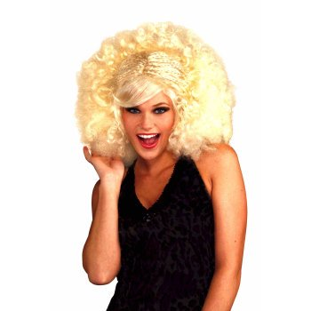 Blonde Pop Afro Adult Halloween Costume Accessory Wig